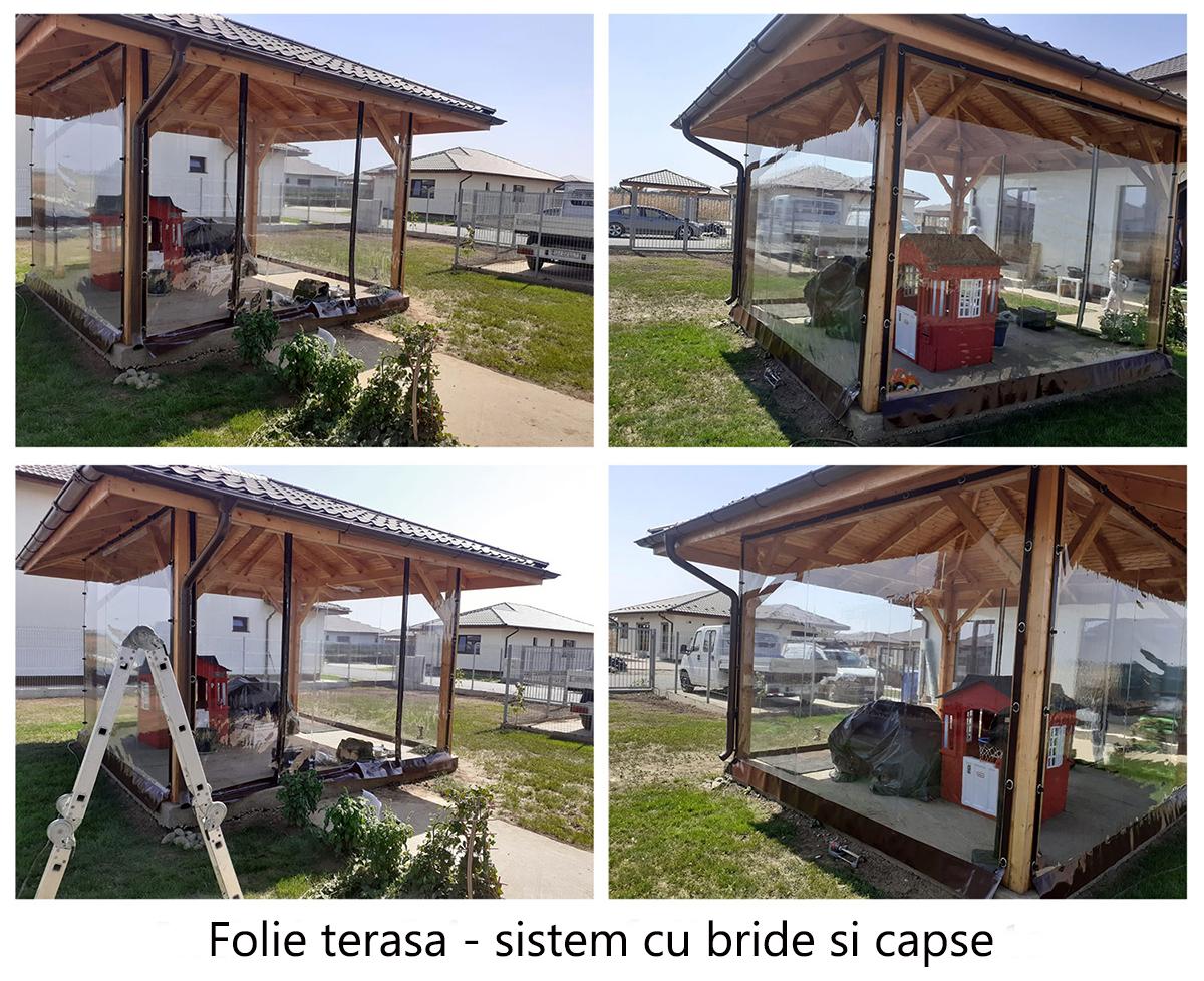 Folie terasa - sistem cu bride si capse