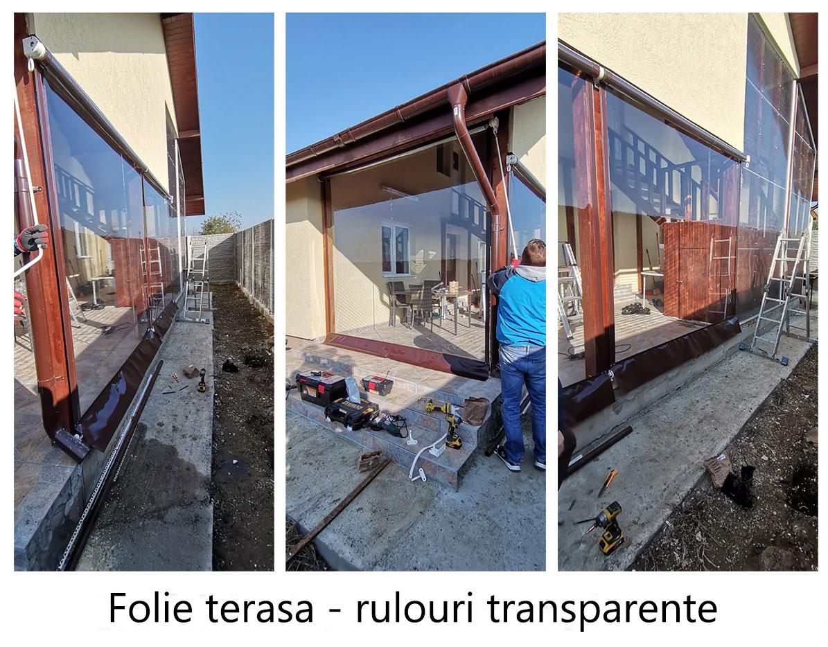 Folie terasa - sistem de rulouri transparente