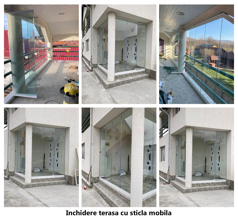 terasa inchisa cu sticla mobila