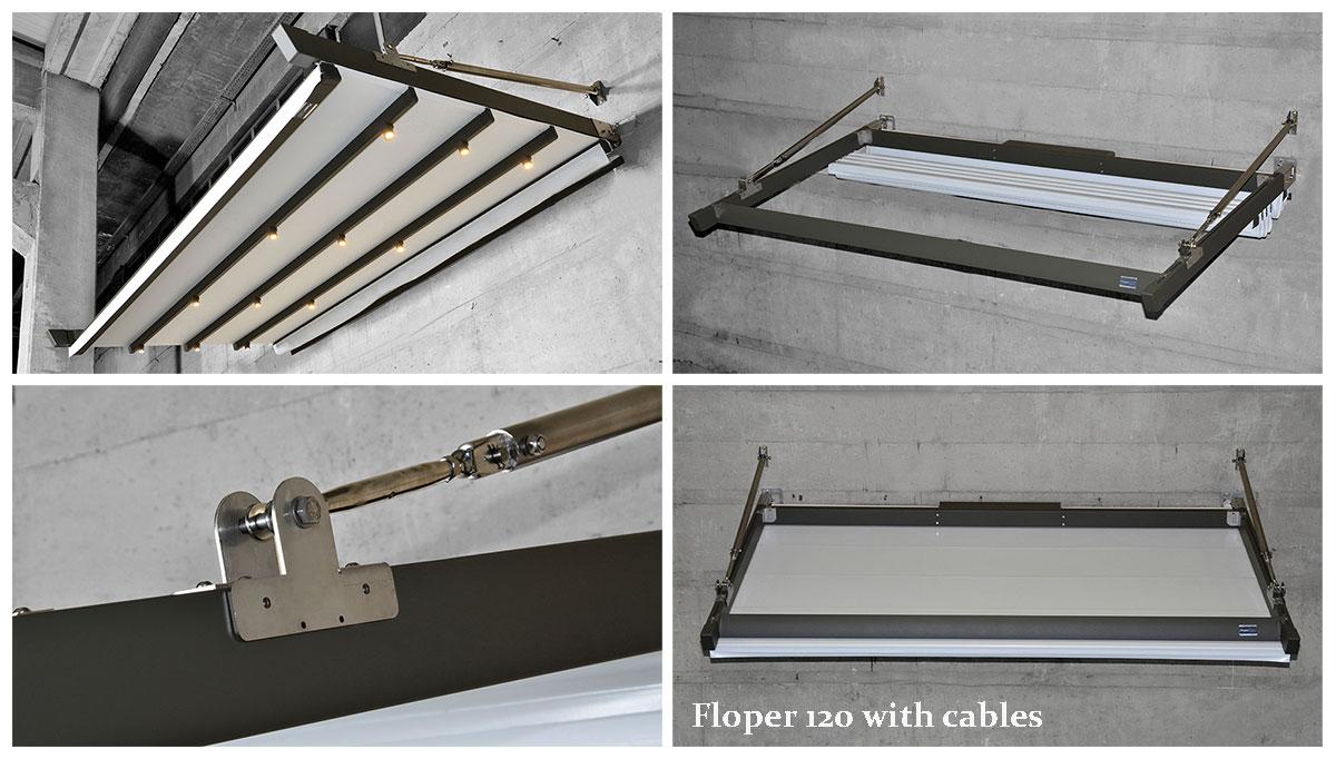 Pergola Floper 120 width cables